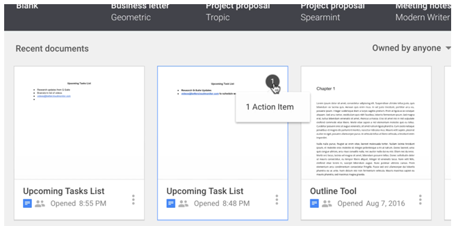 Google Slides – Assigning Action Items