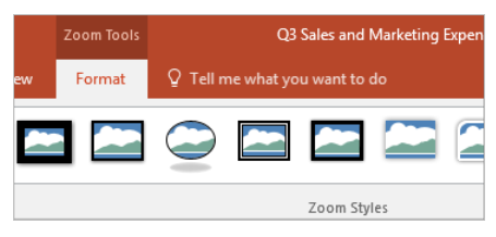 PowerPoint Slide Zoom – Changing The Preview Of Images